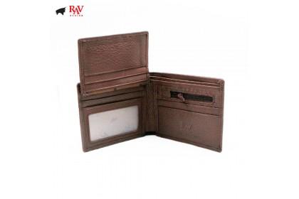 RAV DESIGN 100% LEATHER MEN SHORT WALLET |RVW570G1