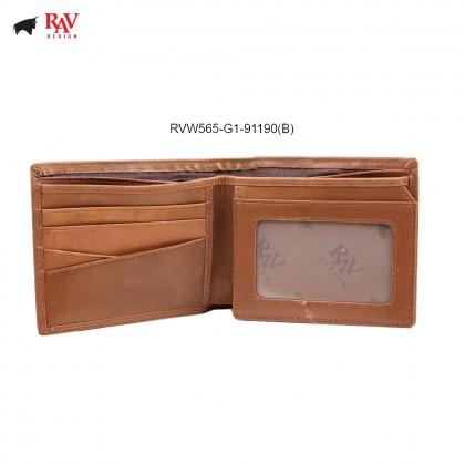 RAV DESIGN 100% LEATHER MEN RFID SHORT WALLET |RVW565G1
