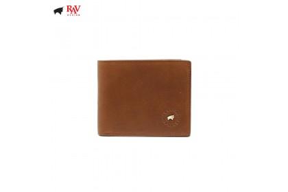 RAV DESIGN 100% LEATHER MEN ANTI-RFID SHORT WALLET |RVW565G1