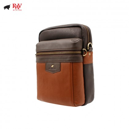 RAV DESIGN ANTI RFID LEATHER SLING CROSSBODY BAG |RVC438G1