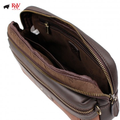 RAV DESIGN ANTI RFID LEATHER CASUAL BAG |RVC438G2