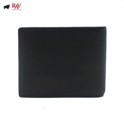 RAV DESIGN Leather Men Short Anti-Rfid Wallet |RVW589G1