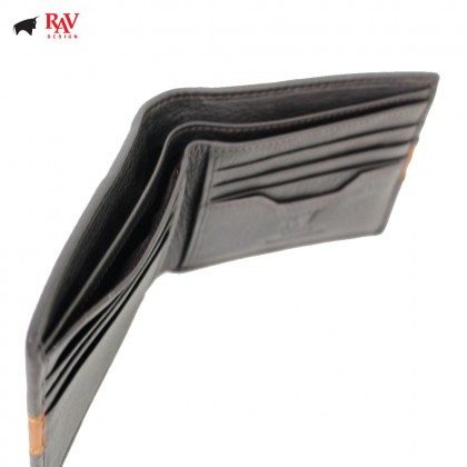 RAV DESIGN Leather Men Anti-RFID Short Wallet |RVW577G1(A)
