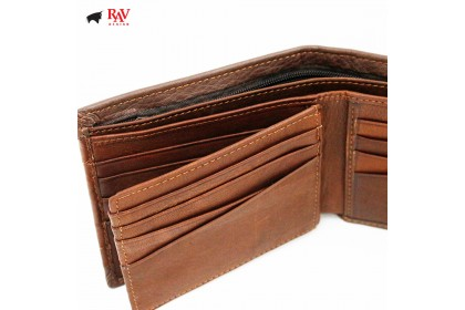 RAV DESIGN Leather Men Short Wallet |RVW578G1