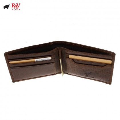 Rav Design Men Genuine Leather Money Clipper Short Wallet |RVW604G3(C)
