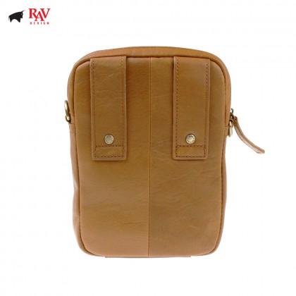 RAV DESIGN 100% Genuine Leather Belt Pouch Light Brown |RVC454G1