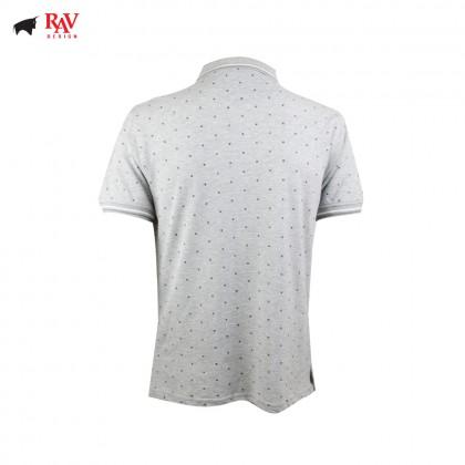 Rav Design Men Polo T-Shirt Shirt Grey |RCT30632091